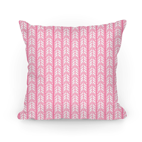 Pink Chevron Pattern Pillow