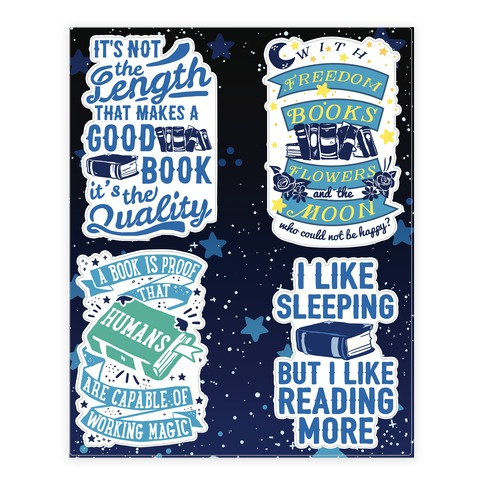 Magical Book Sticker and Decal Sheet