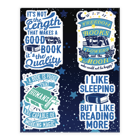 Magical Book  Sticker/Decal Sheet