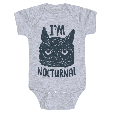 I'm Nocturnal Baby Onesy