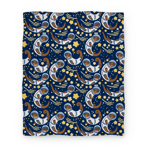 Otters In Space Blanket