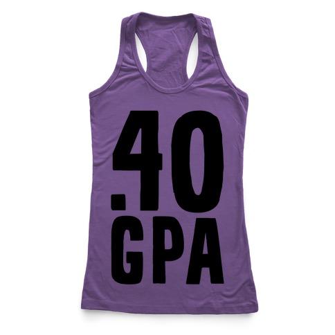 .40 GPA Racerback Tank Top