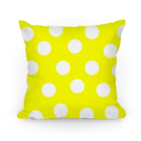 Yellow Polka Dot Pillow Pillow