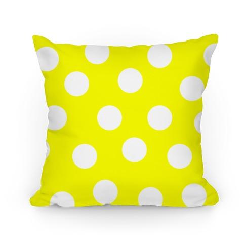 Yellow Polka Dot Pillow Pillow