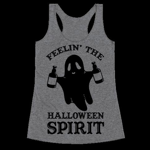 Feelin' the Halloween Spirit Racerback Tank Top