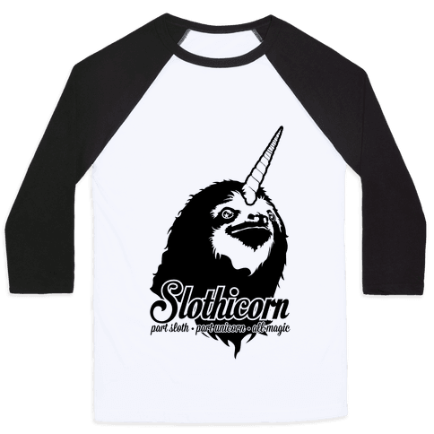 Slothicorn Part Unicorn Part Sloth All Magic Baseball Tee