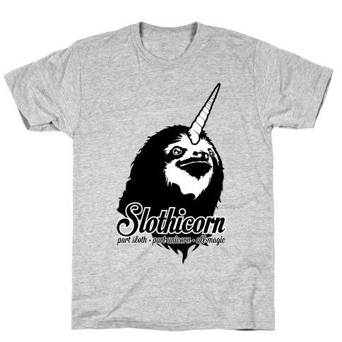 Slothicorn Part Unicorn Part Sloth All Magic T-Shirt