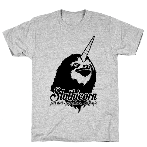 Slothicorn Part Unicorn Part Sloth All Magic Mens T-Shirt