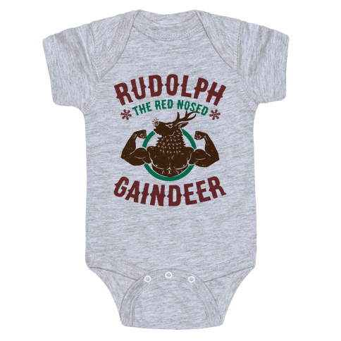 Rudolph The Red Nosed Gaindeer Baby Onesy
