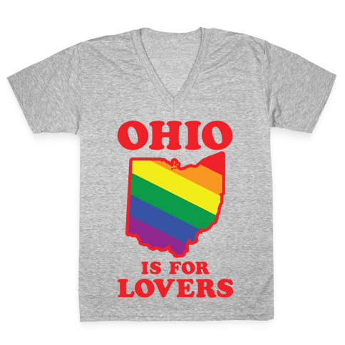 Ohio is for Lovers V-Neck Tee Shirt