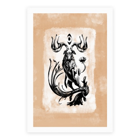 Three Eyed Elk Poster