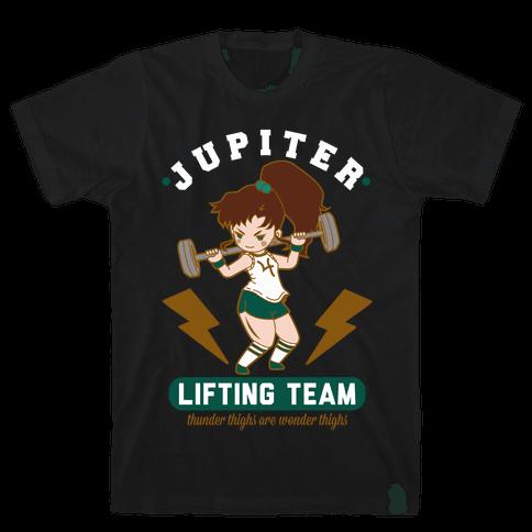 Jupiter Lifting Team Workout Parody Mens T-Shirt