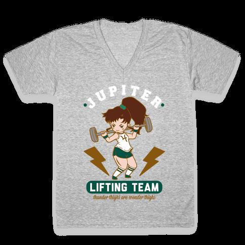 Jupiter Lifting Team Workout Parody V-Neck Tee Shirt