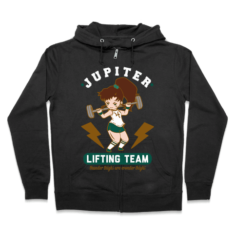 Jupiter Lifting Team Workout Parody Zip Hoodie