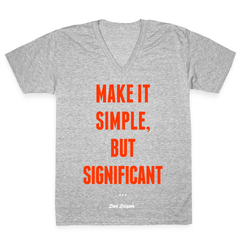 Simple, but Significant V-Neck Tee Shirt