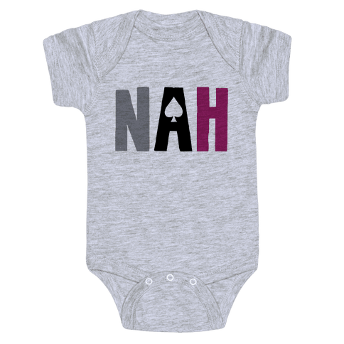 Nah- Asexual Pride Baby Onesy