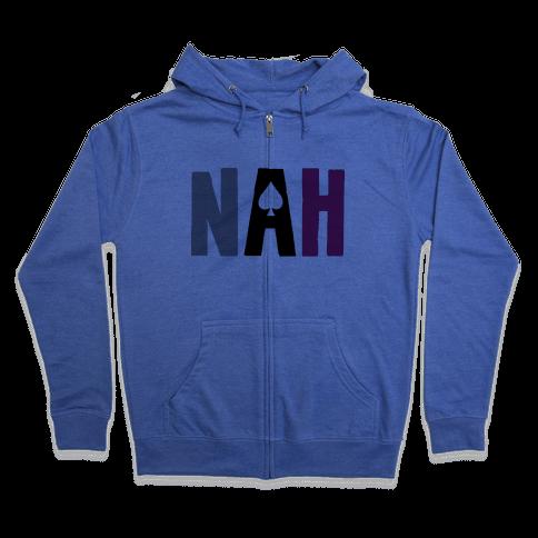 Nah- Asexual Pride Zip Hoodie
