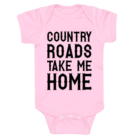 Country Roads Baby Onesy
