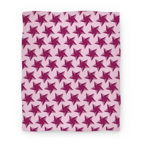 Pink Star Pattern Blanket