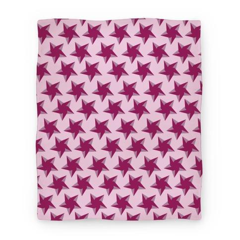 Pink Star Pattern Blanket