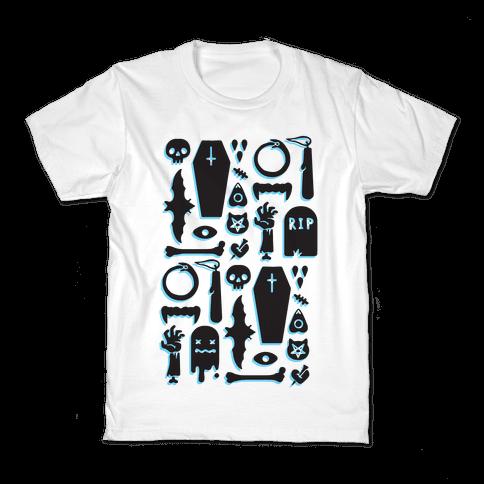 Simple Halloween Pattern Kids T-Shirt