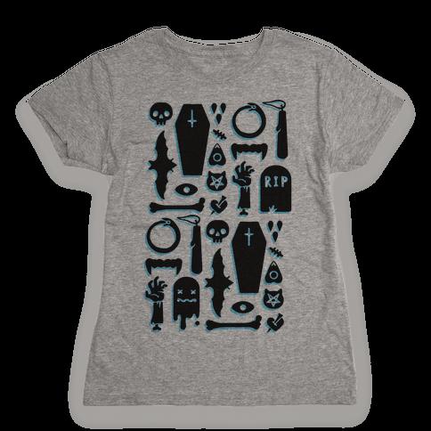 Simple Halloween Pattern Womens T-Shirt