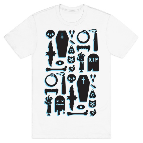 Simple Halloween Pattern Mens T-Shirt