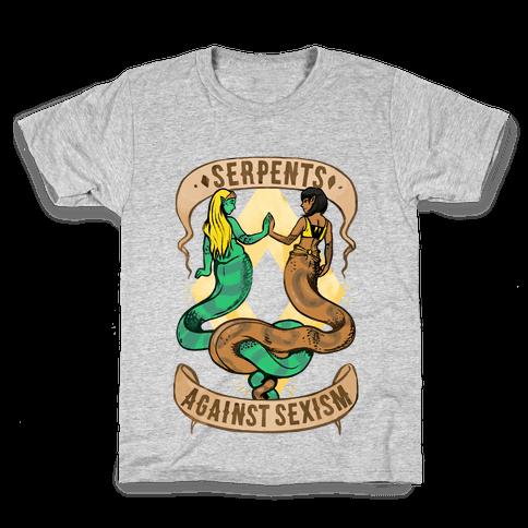 Serpents Against Sexism Kids T-Shirt