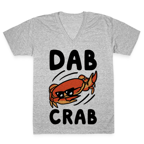 Dab Crab V-Neck Tee Shirt