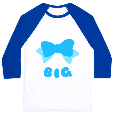 Big Bow (Blue) Baseball Tee