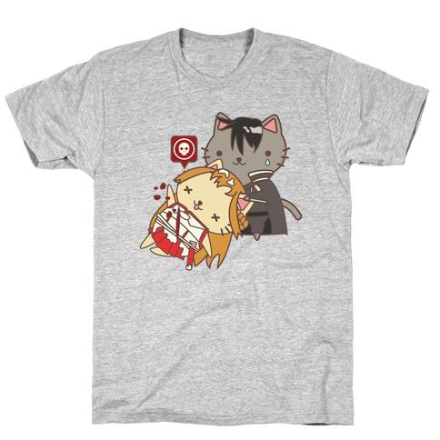 Cat Cosplay Asuna Death T-Shirt