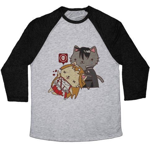 Cat Cosplay Asuna Death Baseball Tee