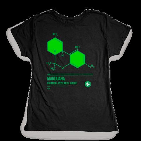 Marijuana Chemical Research Group Womens T-Shirt
