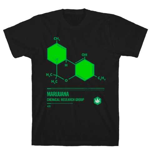 Marijuana Chemical Research Group Mens T-Shirt
