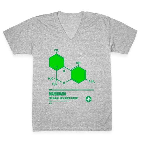 Marijuana Chemical Research Group V-Neck Tee Shirt