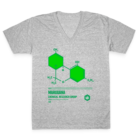 Marijuana Chemical Research Group V-Neck Tee Shirt