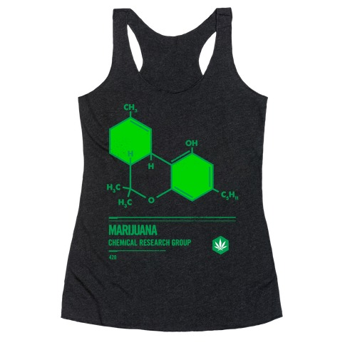 Marijuana Chemical Research Group Racerback Tank Top