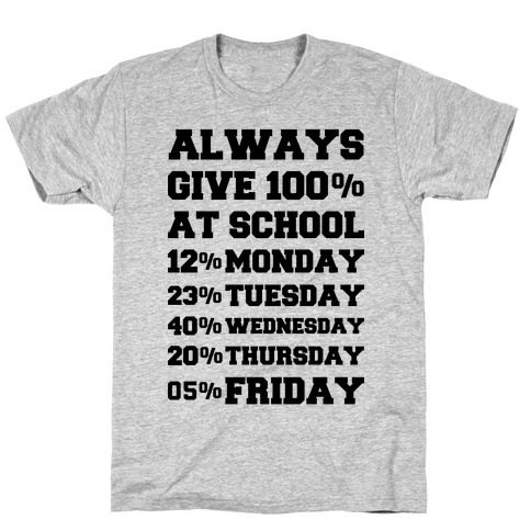 Always Give One Hundred Percent at School T-Shirt