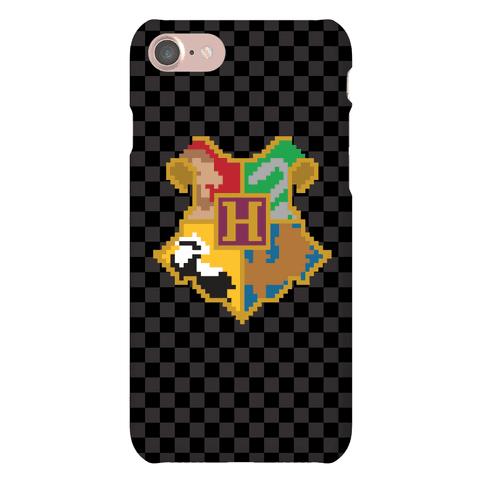 8 Bit Hogwarts Crest Phone Case