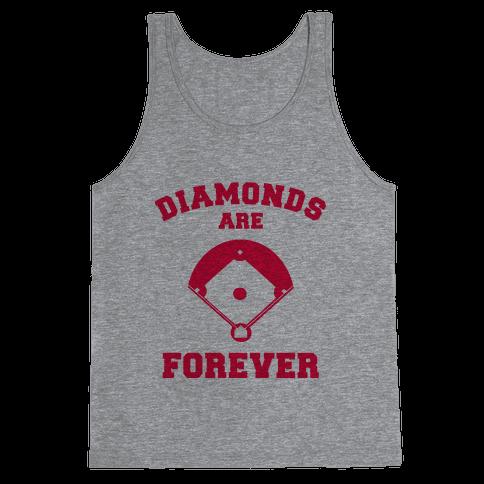 Diamonds are Forever (baseball) Tank Top