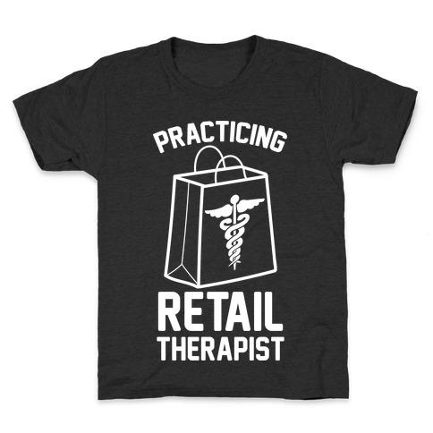 Practicing Retail Therapist Kids T-Shirt