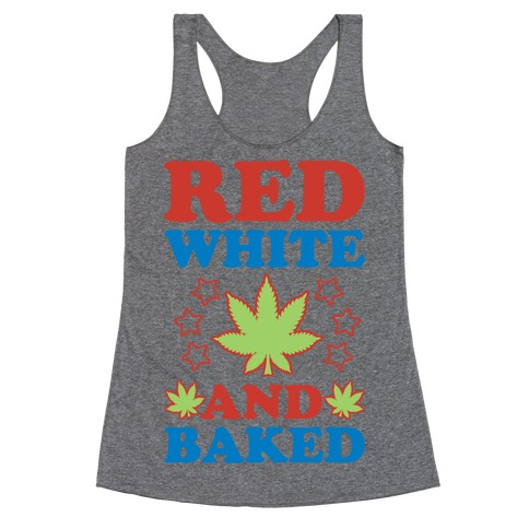 Red White and Baked Racerback Tank Top