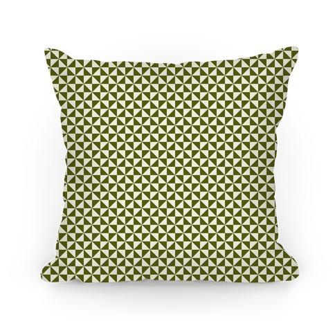 Green Pinwheel Pattern Pillow