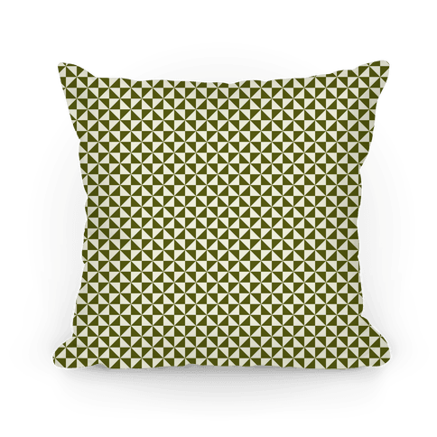 Green Pinwheel Pattern Pillow