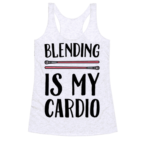 Blending Is My Cardio Racerback Tank Top