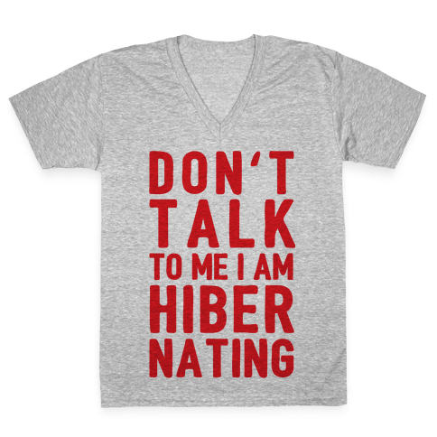 Don't Take To Me I Am Hibernating V-Neck Tee Shirt