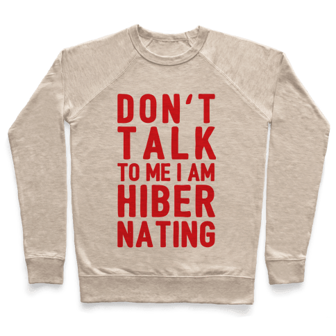 Don't Take To Me I Am Hibernating Pullover
