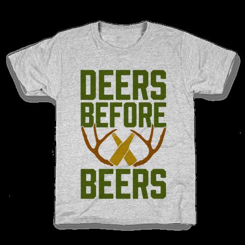 Deers Before Beers Kids T-Shirt