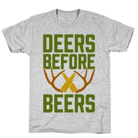 Deers Before Beers Mens T-Shirt