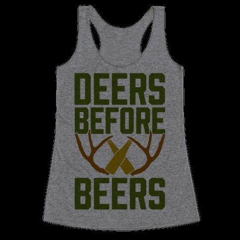 Deers Before Beers Racerback Tank Top